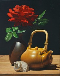 rose and teapot